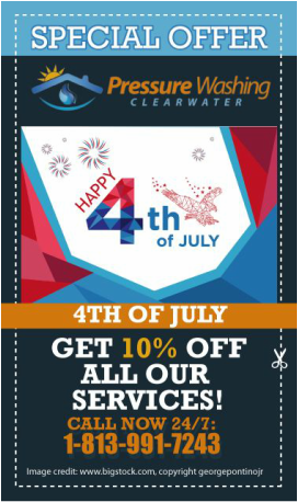 4th of July promotion for DPI Pressure Washing