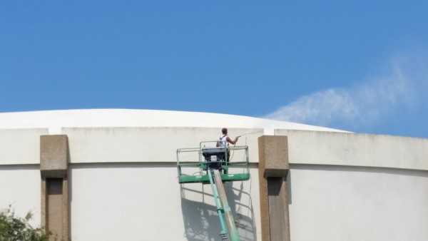 DPI cleaning pinellas county water tank