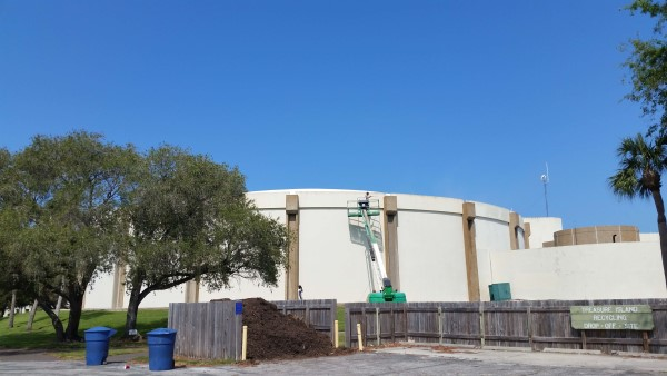 DPI doing pinellas county water tank cleaning treasure island