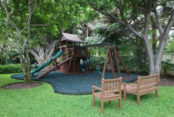 Pressure washing play areas