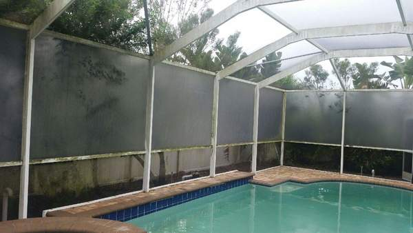 Pool cage cleaning in Trinity, Fl