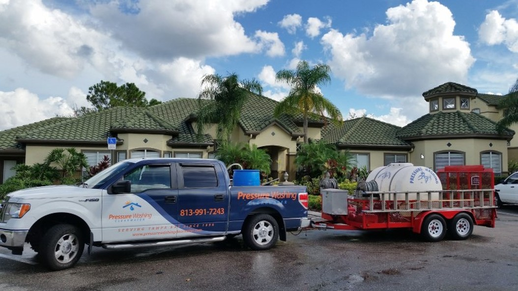 DPI Pressure Washing LLC Office Tampa, with equipment