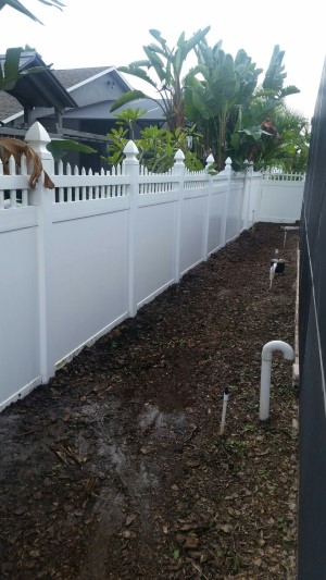 Tampa Pressure Washing Outdoor Fence - After picture
