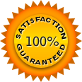 100%satisfaction guaranted logo