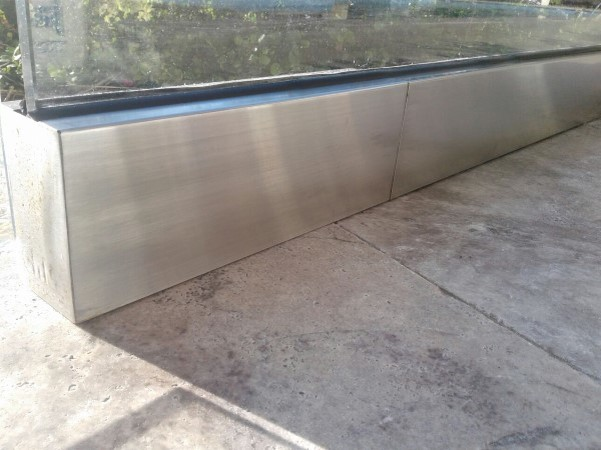 outdoor metal surface view after polishing