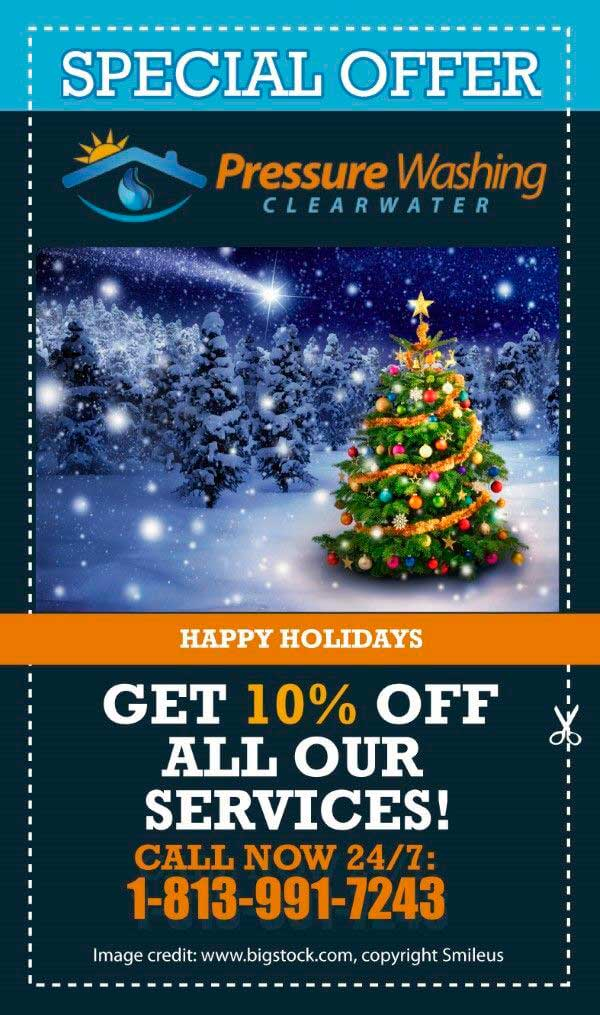 Christmas offer 2017 from DPI pressure washing