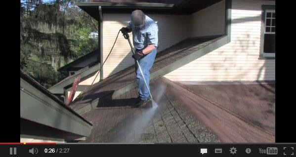 How to pressurewash your roof