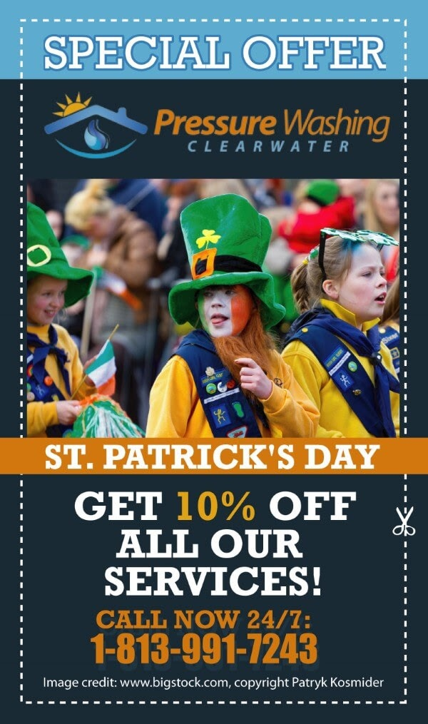 Picturepressure washing offer st patricks day