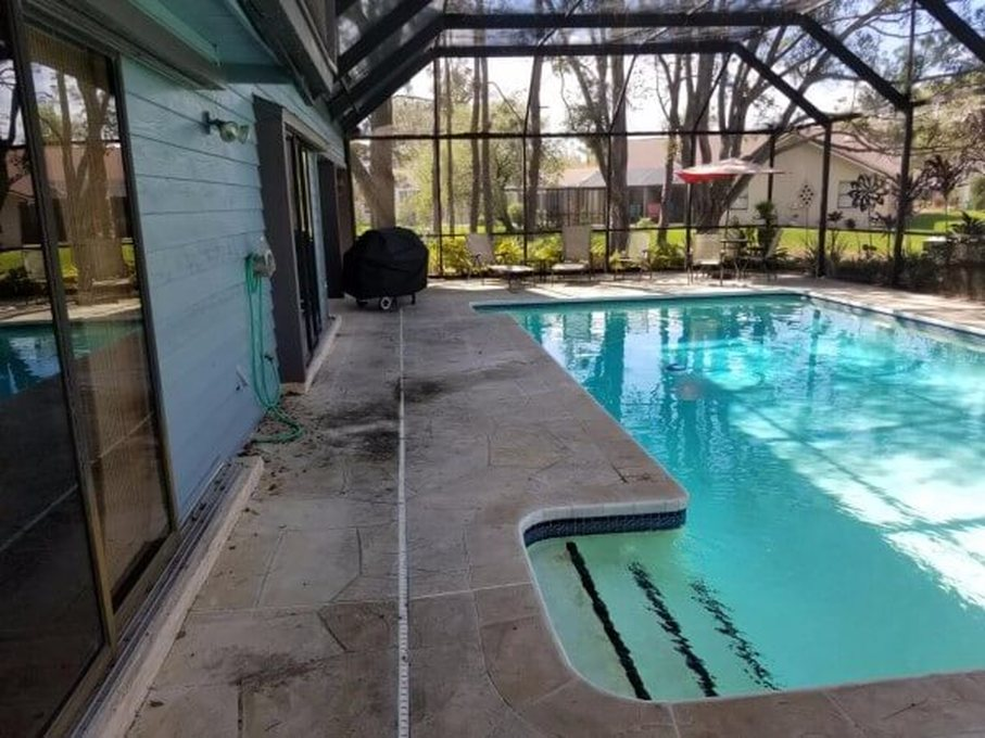 Pool-patio cleaning by DPI Pressure Washing