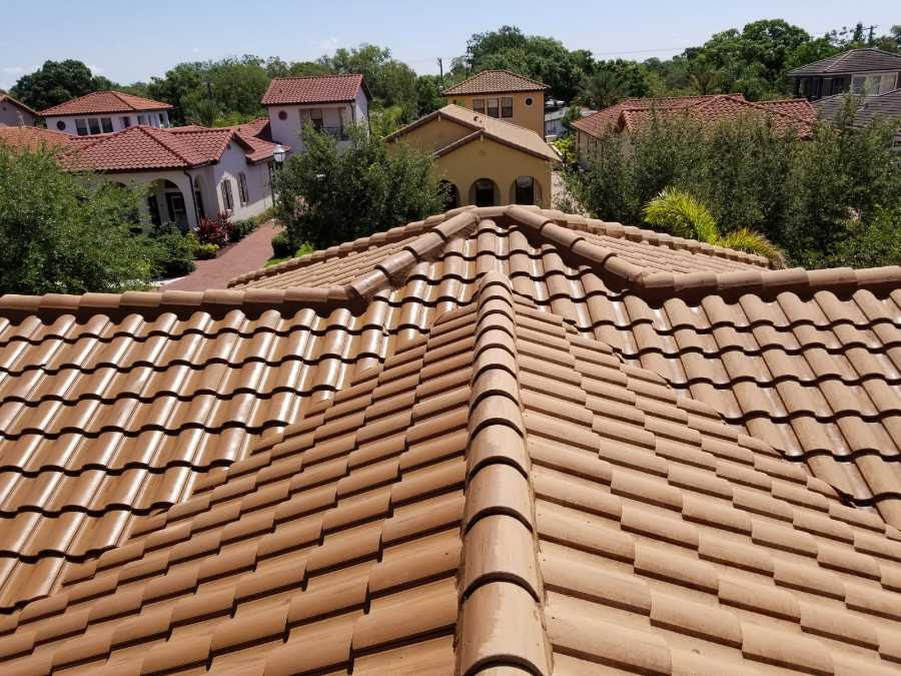 roof cleaning tampa tiled roof finished