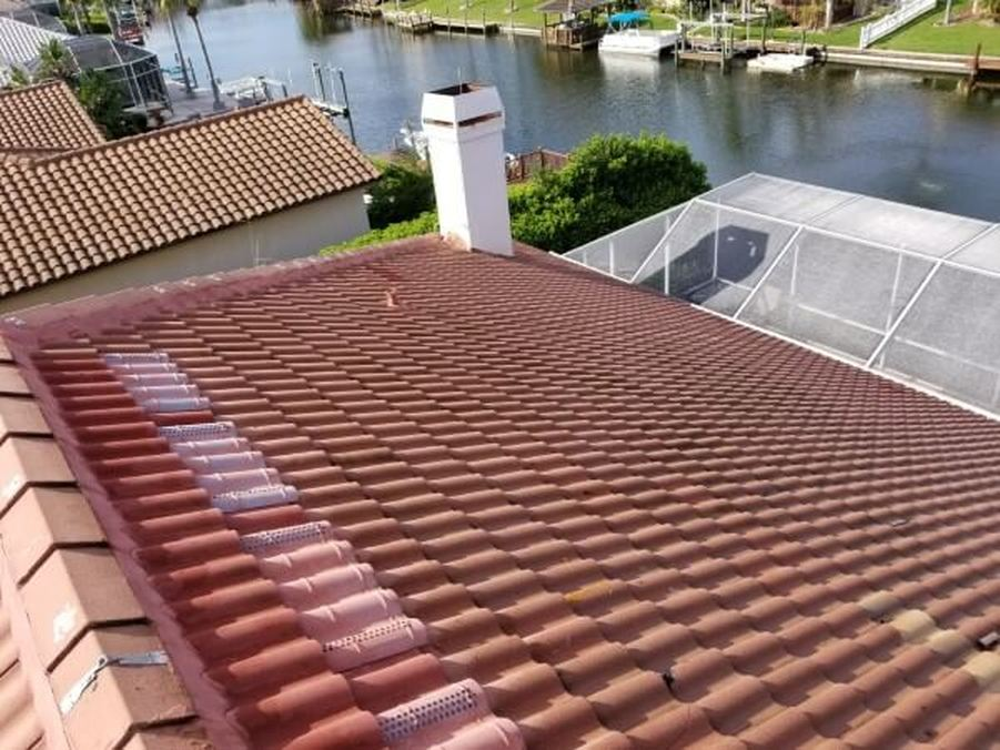 roofs after softwashing by DPI in Tampa Bay area