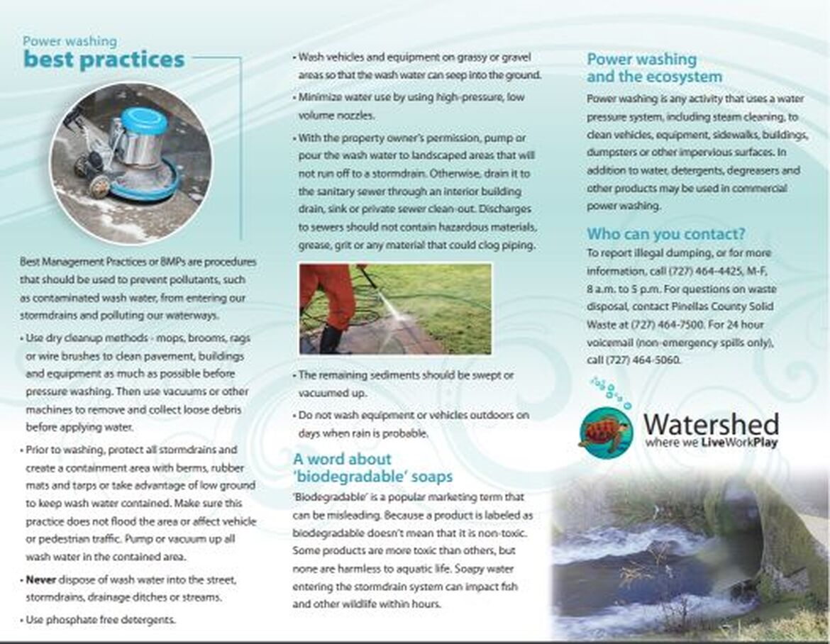 Pinellas County Power Washing Brochure Page 2