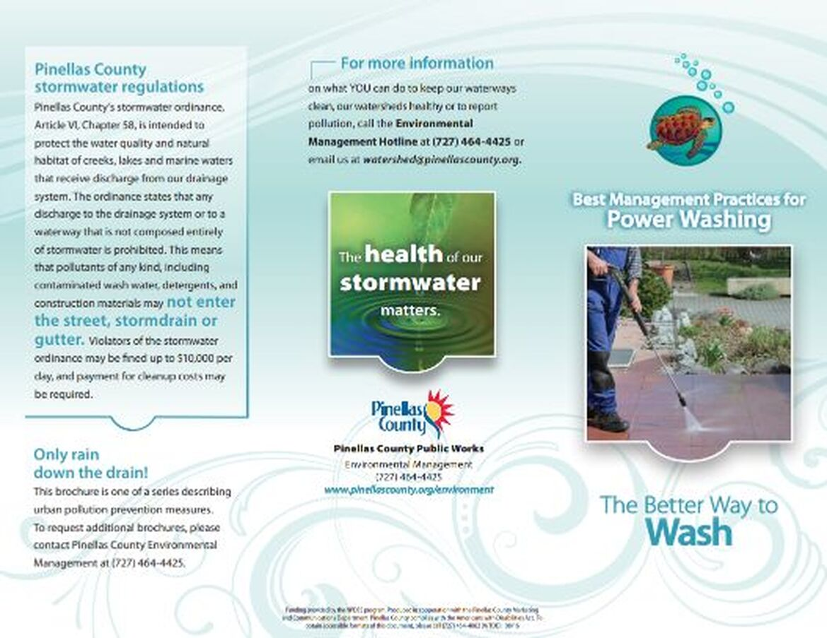 Pinellas County Power Washing Brochure