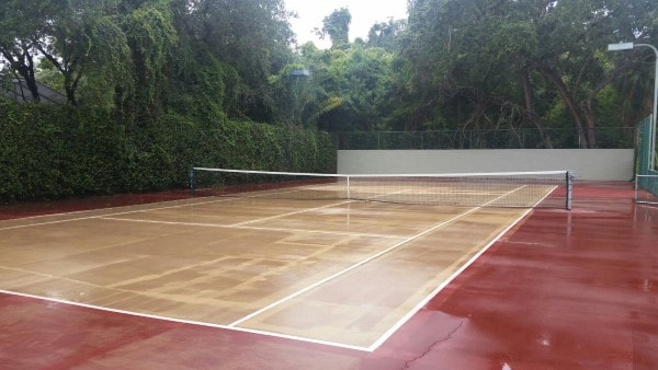 Tommy's tennis court after