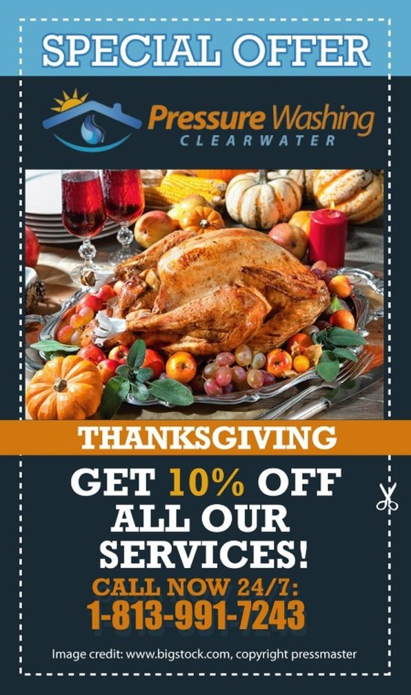 Thanksgiving special 10% off on all services